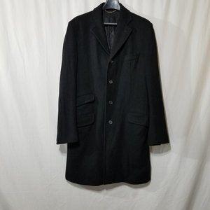 Dolce & Gabbana black wool single breasted coat